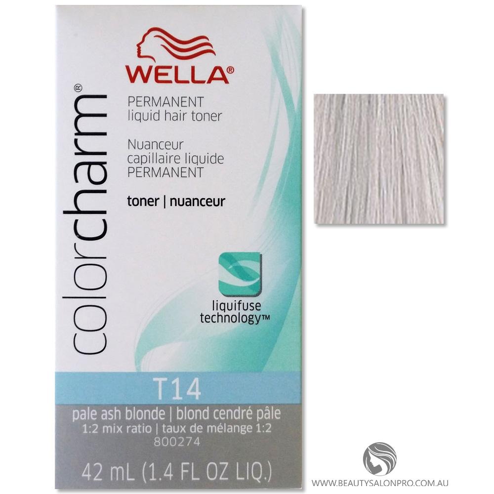 Wella Color Charm T14 PALE ASH BLONDE Permanent Liquid ...