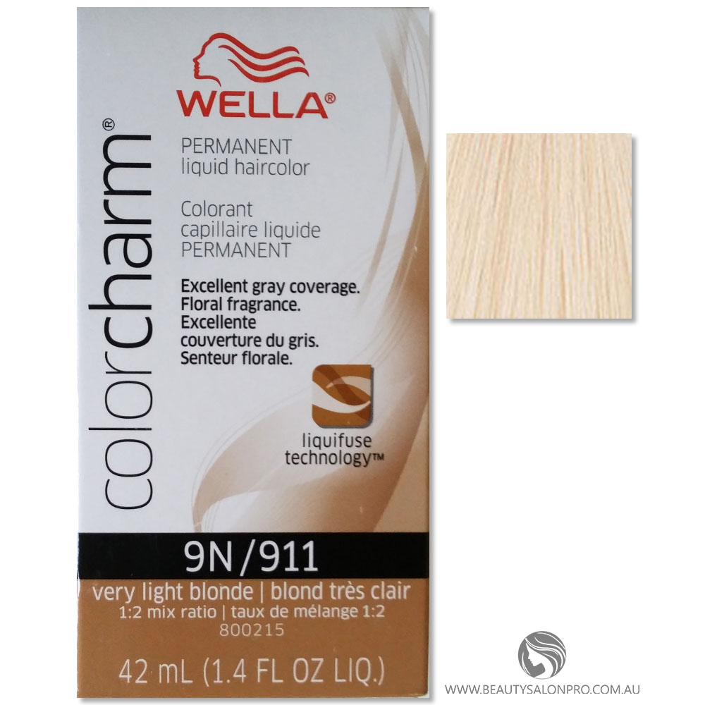 Wella Color Charm Permanent Liquid Hair Color 9N/911 VERY LIGHT BLONDE